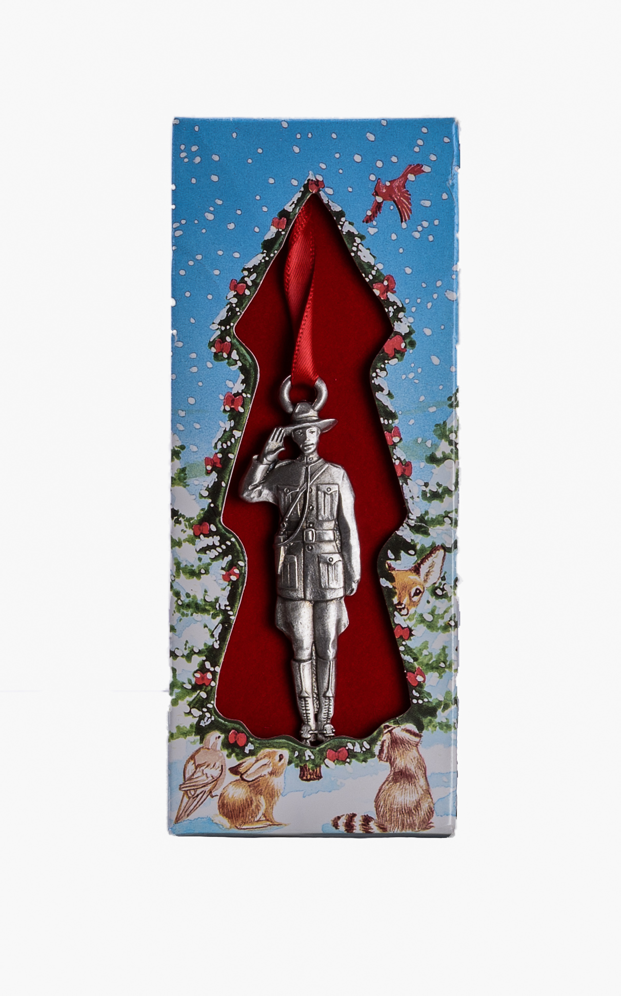 Pewter RCMP Saluting Christmas Tree Ornament