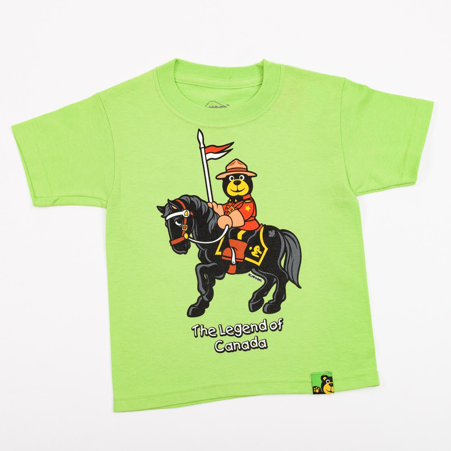 RCMP Bear Rider Kids T Shirt