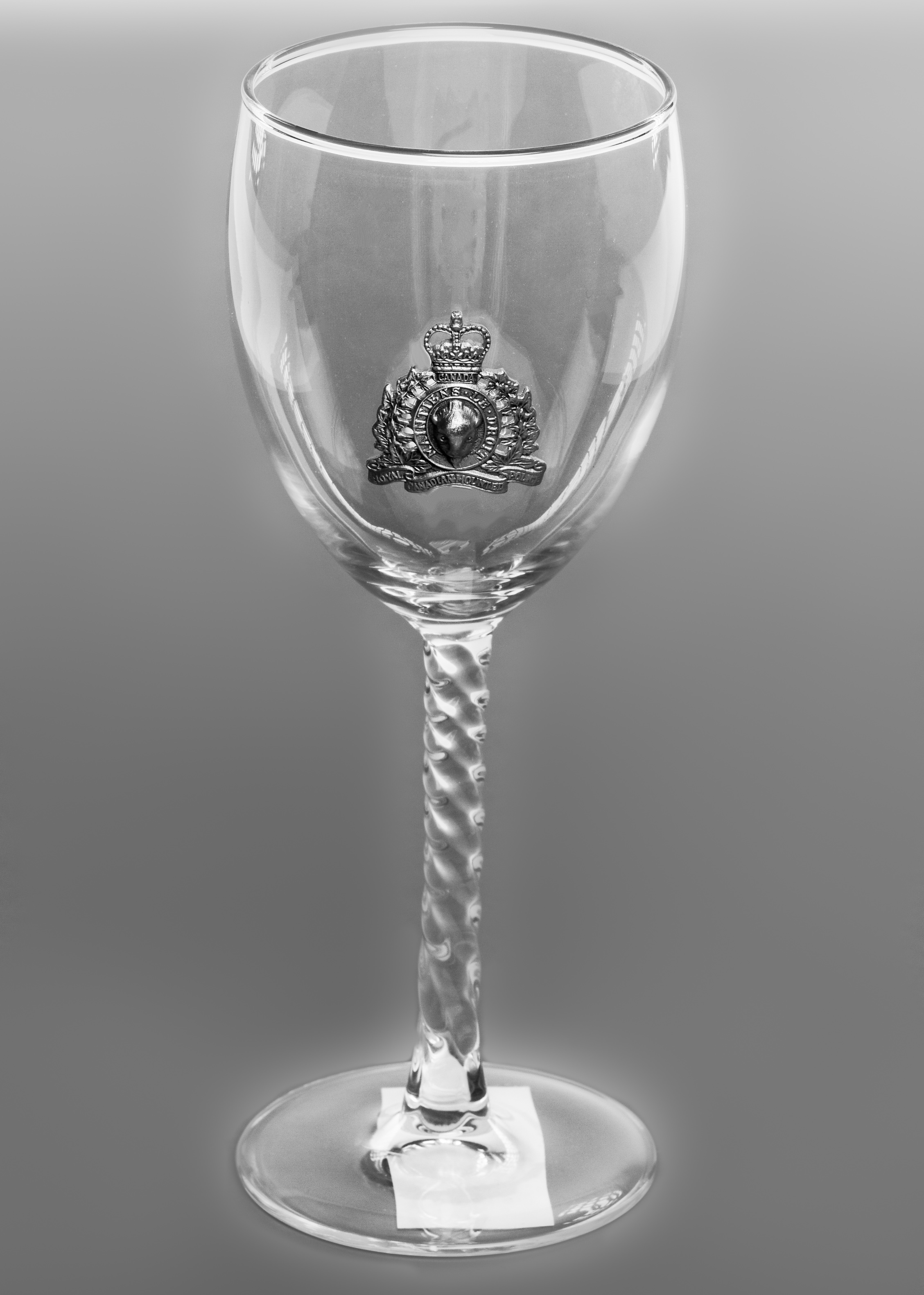 Pewter RCMP Crested Wine Glass