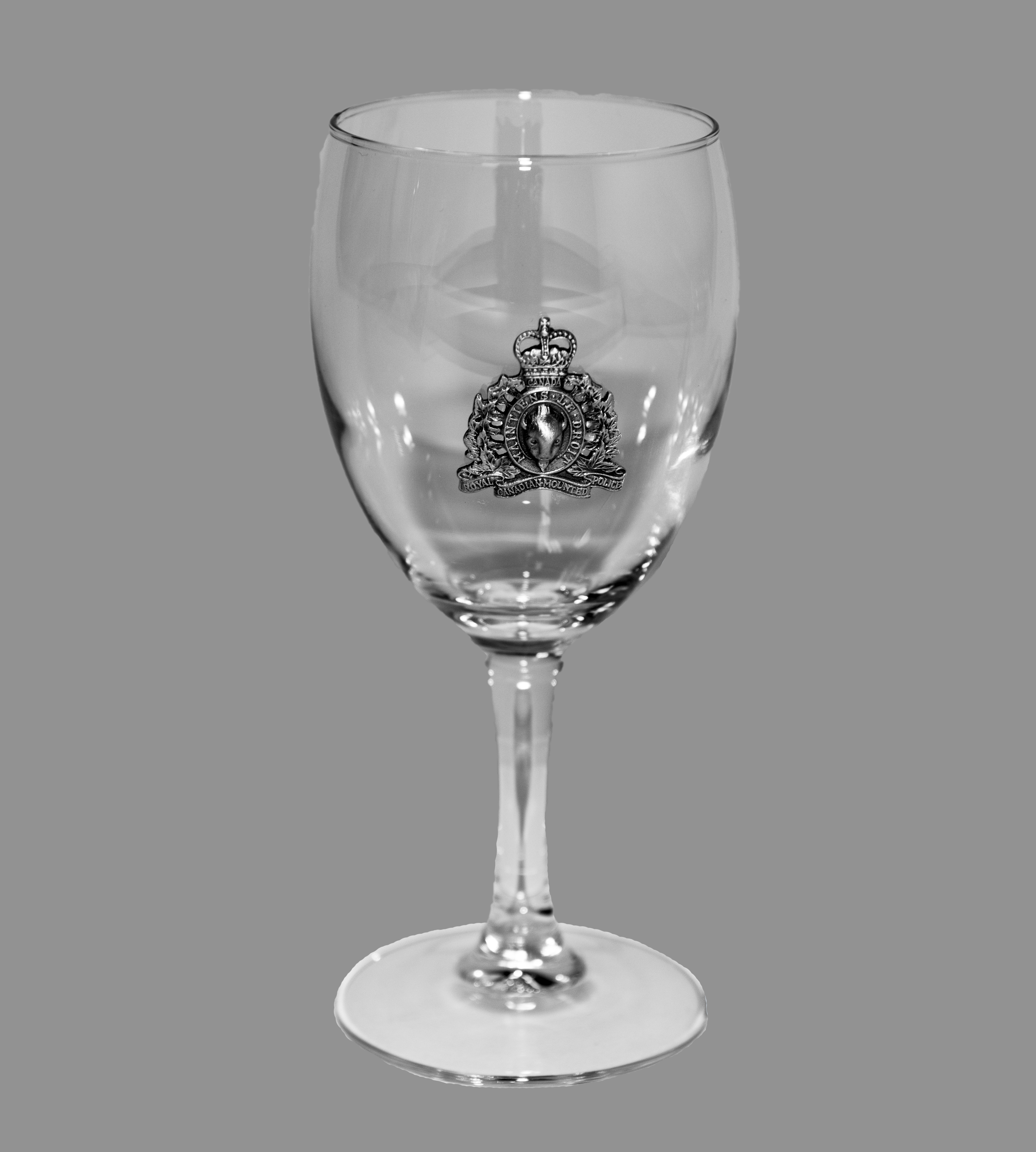 Pewter Rcmp Crested Wine Glass Rcmp Gift Shop